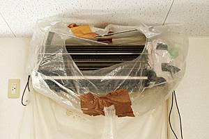 3.エアコン周辺・電気部分の洗浄準備